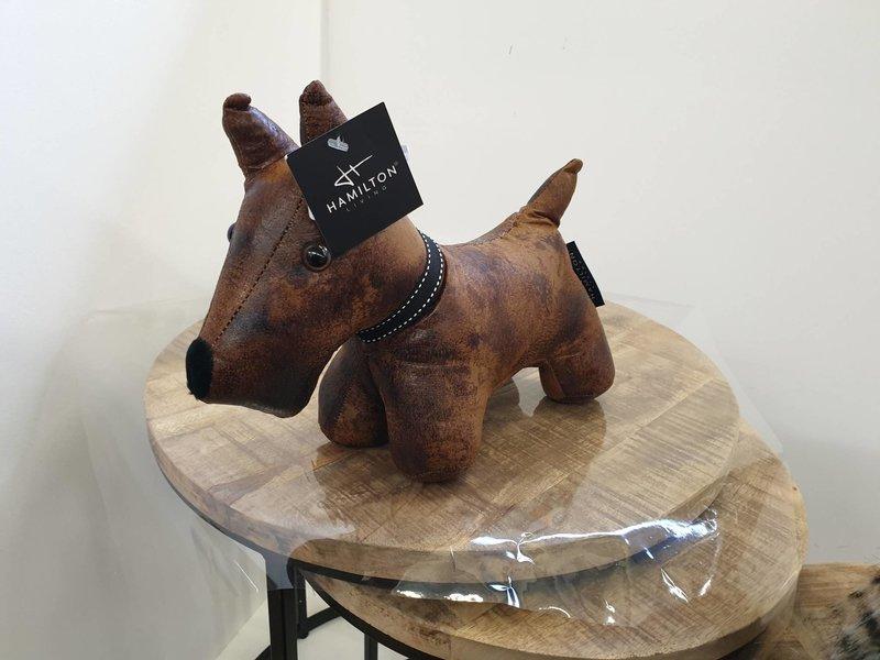 Hamilton Living Doorstop scottish dog Winston faux leather