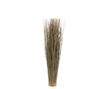 J-Line grassen gedroogd rond groen S 12x12x95cm