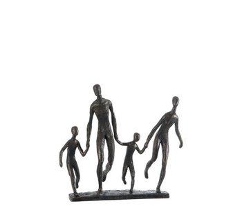 J-Line familie lopend bruin 34.9x12x31.2cm