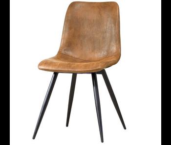 Spot stoel 1 zit cognac / zwart frame