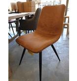 Spot stoel 1 | Cognac | Zwart frame
