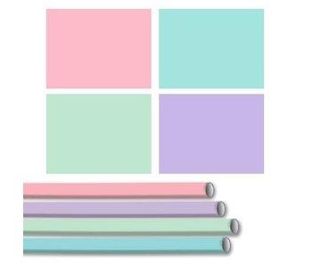 Kado/kaftpapier soft touch roze 2mx70cm