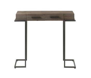 J-Line Console 1 lades hout/metaal donkerbruin (90x30x75cm)