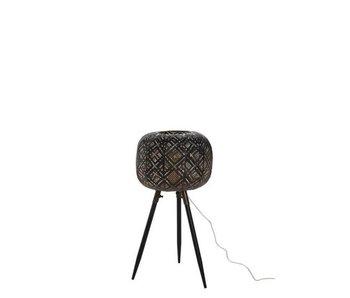 J-Line Lampe sur pied en métal noir (32x32x55cm)