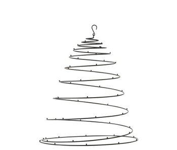 J-Line Zwart metalen hangende spiraal
