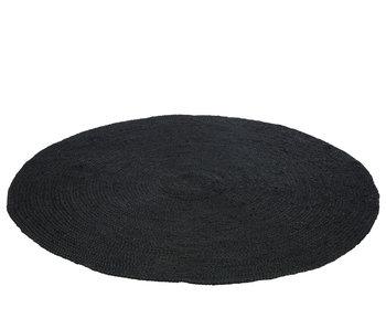 J-Line tapijt rond jute zwart 150cm