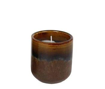 Hamilton Living Candle round Amber 9.5x9.5x10