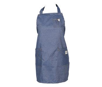 Clayre & Eef Tablier 70 * 65 cm bleu