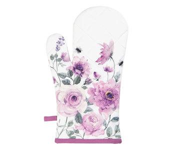 Clayre & Eef Ovenhandschoen 16*30 cm roze