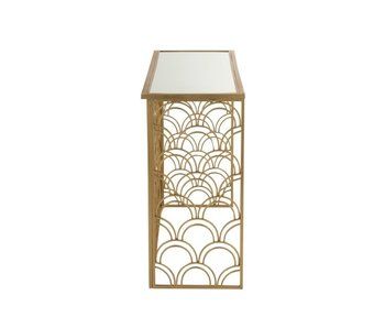 J-Line CONSOLE ARCHES RECTANGULAIRE METAL/VERRE OR