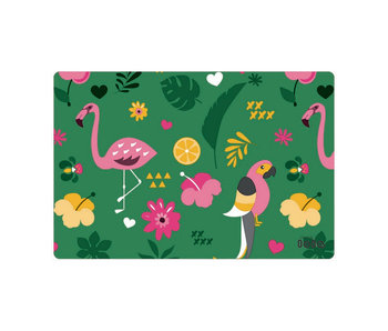 Placemat exotic garden jungle green