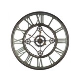 Horloge fer industriel noir 80 cm