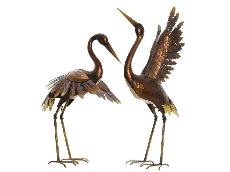 Oiseau fer bronze tête baissée