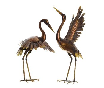 Oiseau en fer bronze tête droite