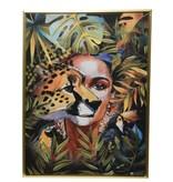 Schilderij canvas lijst gezicht voor 60x80x4cm goud