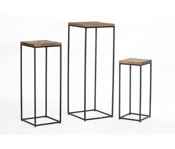 Hamilton Living Table d'appoint pour plantes Domino | Large | 35x35x100cm