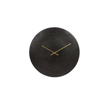 Hamilton Living Klok Moon zwart | 38 cm diameter