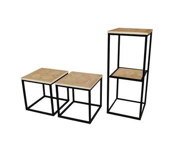 Hamilton Living Myla table d'appoint / rack haute 38x38x90h