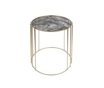 Hamilton Living Table d'appoint ronde Mila or / métal 38x38x30 CM
