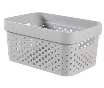 INFINITY BOX 4.5L DOTS grijs - 26x18xh12 cm