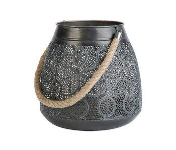 Lantaarn Maroc | antique grijs | 25x25xH25cm