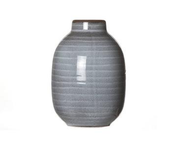 Mini vase bocal | Céramique gris | 7.5x11cm