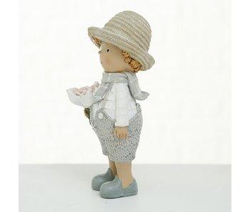 Figuur Odell jongen 15cm grijs