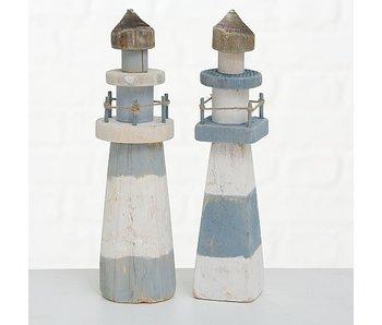 Lichttoren Elian vierkant | 27cm | blauw
