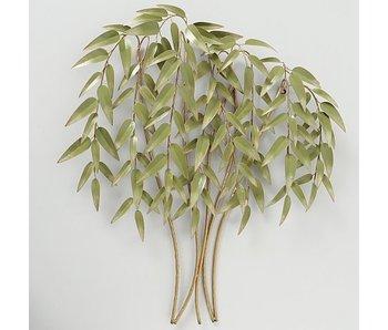 Wanddeco Bamboo | ijzer | 88x92cm | groen