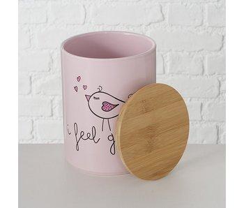 Vooraaddoos Twieti L 19x14 cm roze