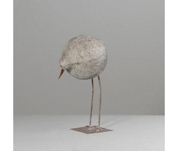 Deco vogeltje op voet neerkijkend | 60 cm