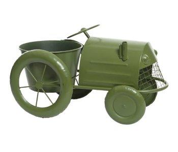 Tracteur déco | vert foncé | 43x22x25cm