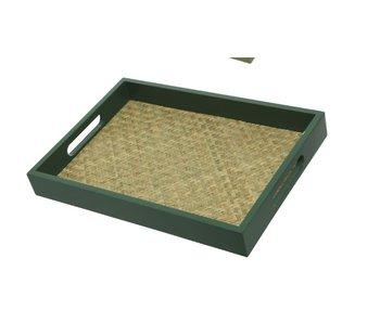 Dienblad donkergroen | Small 34x24 cm