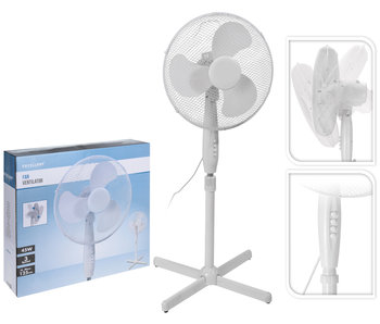 Ventilateur à pied   Blanc