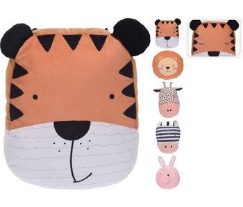 Kussen tijger  35-40 x 15 cm