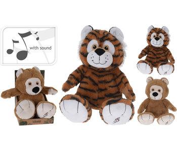 Knuffelbeer met geluid - tijger
