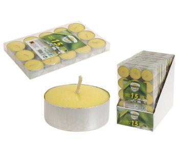 Kaars citronella 15 stuks