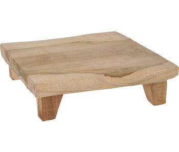 Teak tafeltje | 25x25x6cm