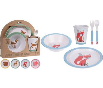 Vaisselle enfant éléphant - 5 pièces