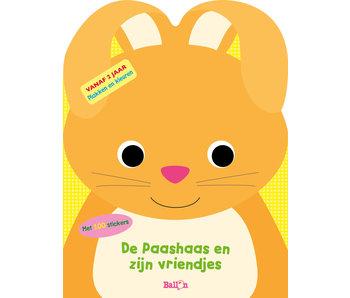 De paashaas en zijn vriendjes: plakken en kleuren  2+