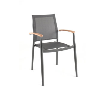 Jerrica chair - dark grey - textyleen