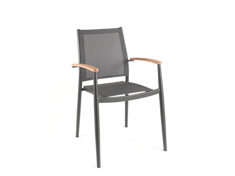 Jerrica chair - dark grey - textyleen