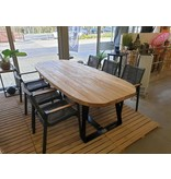YORK tafel in teak  250x110