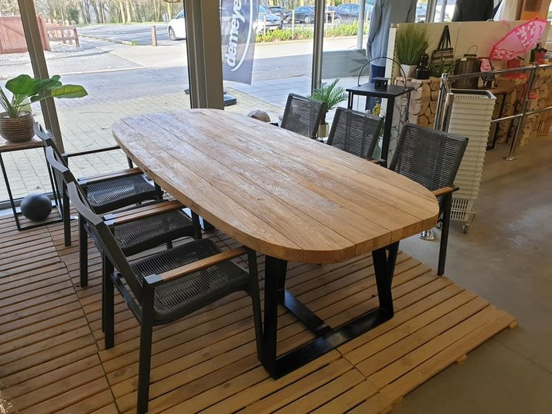 Table en teak York 250x110