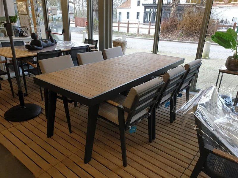 Manor tafel 220x90 teak top