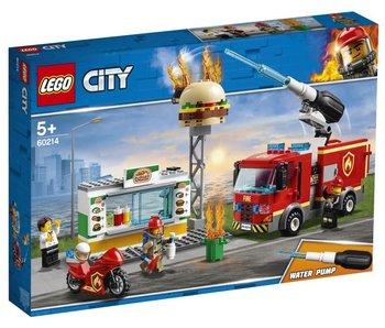 City 60214 brand bij het hamburgerrestaurant