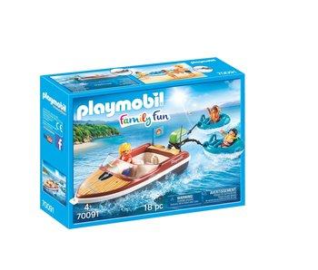 Playmobil bateau à moteur 70091