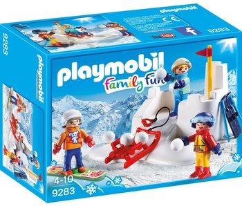 Playmobil Bataille de boule de neige 9283