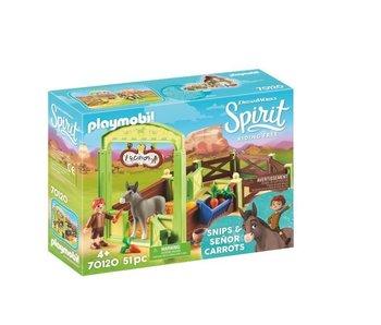 Playmobil Knip en meneer Worteltje met paardenbox 70120