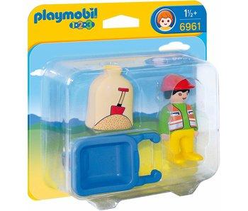 Playmobil 6961 Ouvrier avec brouette